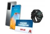 3 x smartphone Huawei P40 Pro, 9 x ceas smartwatch Huawei Watch GT 2, 100 x voucher Auchan de 100 lei