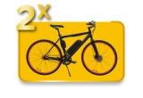 2 x videoproiector portabil BenQ GV1, 2 x bicicleta electrica Fat Bike Carpat C1002E Negru/Albastru