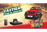 1 x mașina Jeep Wrangler Rubicon Unlimited, 63 x iPhone 11 Pro 64GB, 9 x consola Microsoft Xbox One X 1TB