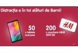 50 x tableta Samsung Galaxy Tab A10.1, 200 x Voucher H&M de 200 lei