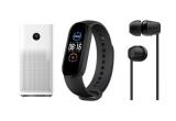 10 x pereche de caști Sony wireless intraauriculare WI-C200 negre, 10 x brațara de fitness Xiaomi Mi Smart Band 5 28350, 1 x Purificator de aer Xiaomi Mi Air 3H