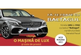 1 x masina de lux Mercedes Benz C180 Limuzina Start – up Edition, 320 x sticla de Baltagul, 51 x bax de bautura spirtoasa Baltagul 0,5 l