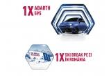 1 x masina Fiat Abarth 595, 63 x voucher de vacanta in Romania de 2500 lei