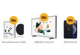 10 x televizor Samsung Lifestyle The Frame QLED Smart 50LS03T Ultra HD 4K HDR 125 cm UHDQE50LS03TAUX, 10 x smartphone iPhone 12 5G 256GB, 10 x consola Microsoft Xbox Serie S 512GB, 10000 x voucher Altex de 50 lei