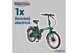 2 x bicicleta electrica pliabila FreeWheel E-Bike City, 1 x smartwatch Fitbit Versa 2 Special Edition, 7 x pereche casti Jabra Elite Active, 24 x hiking cooler backpack 10L,  224 x rucsac antifurt, 224 x racitor doza masina
