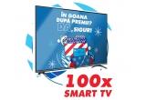100 x televizor Smart LED Allview Full HD 101cm, 336 x card cadou eMAG de 100 lei, 1 x vacanta sejur la ski de 5000 lei, 29988 x pahar de colectie Pepsi, 19992 x doza Pepsi, 4 x televizor LED Smart Samsung 50TU8072 Ultra HD 4K HDR 125cm, 1 x laptop gaming Asus ROG Strix G G731GT