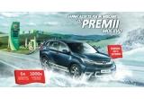 1 x masina Honda CR-V Hybrid Elegance, 6 x card MOL Gift de 5000 lei, 1000 x card de carburant in valoare de 150 lei