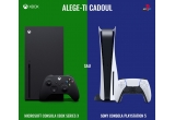 1 x consola PlayStation 5 sau Xbox series X la alegere