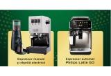 36 x Espressor automat pentru cafea Philips 5400 LatteGO + Pachet degustare cafea prajita boabe Jacobs sau Espressor manual pentru cafea Gaggia Inox Classic Pro + Rasnita electrica pentru cafea Graef + Pachet degustare cafea prajita boabe Jacobs