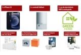 1 x pachet Green Smart Home in valoare de 3.000 euro ce contine: centrala termica Vaillant ecoTEC Pro + iPhone 12 + termostat inteligent Tado V3+ fara fir + Hub Homee Kit + 3 prize inteligente Philips Hue + pachet becuri inteligente Philips Hue White Ambiance + 1 an de electricitate 100% verde E.ON Green Home gratuit