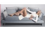 1 x canapea extensibila Gloria Ivoir + canapea extensibila Monte Bleu/Gri