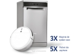 3 x Masina de spalat vase Whirlpool WSFO3T1256PCX 6th Sense, 5 x Robot de aspirare Xiaomi Mi Robot Vacuum MopCleaner