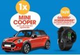 1 x mașina Mini Cooper, 62 x ceas smartwatch Garmin Forerunner 45 Black