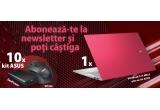 1 x laptop ASUS VivoBook S14 M433 Resolute Red + kit ASUS, 10 x kit format din: mouse wireless ASUS WT425 + baterie externa ASUS ZenPower 10050 mAh