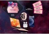 2 x kit Apple: laptop Apple MacBook Air 13 + iPhone 12 128GB + Apple Watch 6 GPS + pereche de caști AirPods Pro, 61 x kit intime Libresse: 3 produse Libresse + tricou Libresse + geanta-portfard din bumbac organic + broșura Libresse, 27 x voucher eMAG sau Decathlon de 500 lei