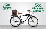91 x Bicicleta Neuzer Cruiser Beach logo Carlsberg, 37 x Rucsac din piele naturala si material textil URBAN BAG Otto - Gri, 17 x Voucher Selgros de 300 lei, 60 x 3 Vouchere Profi de 100 lei, 60 x Card cadou Vivre de 300 lei, 57 x Card cadou Kaufland de 300 lei, 8 x Rucsac din piele naturala si material textil URBAN BAG Otto - Coffee, 33 x Voucher Carrefour de 300 lei