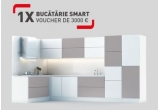 1 x bucatarie de 3000 euro sub forma de voucher de cumparaturi Mobexpert pentru mobila, 122 x mixer de mana Tefal HT450B38, 16 x multicooker inteligent Tefal Cook4Me CY851130