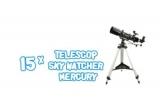 15 x telescop SkyWatcher Mercury 70/500 AZ3 + filtru neutru si Barlow 2x, 175 x voucher Carturești de 50 lei