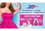 10 x voucher de 1500 RON pentru achiziționarea unei biciclete Pegas, 10 x ghiozdan de dama MBRANDS 2IN1 antifurt impermeabil multicolor cu breloc inclus