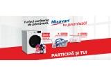 1 x masina de spalat rufe Beko cu uscator + pachet Vexil Misavan, 5 x Stație de calcat Tefal + soluție anticalcar Misavan pentru fierul de calcat, 5 x Produse Misavan pentru curațenie in valoare de 200 de lei