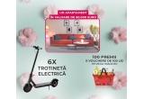 1 x apartament in valoare de 60.000 euro, 6 x trotineta electrica Xiaomi Mi Pro 2, 100 x voucher de cumparaturi Mega Image de 100 lei