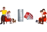 1 x Combina frigorifica XXL Bosch, 15 x Voucher Lidl de 50 lei