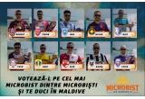 1 x doua locuri in castingul episodului de follow-up al showului Microbist de Romania pe insula Dhiffushi din Maldive cu zbor si cazare asigurate, 18 x tricou 'Microbist de Romania',