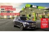 1 x mașina Mercedes-Benz GLB 200 4MATIC, 36 x set de calatorie Mercedes-Benz (rucsac + geanta de voiaj + troller), 1500 x card de carburant de 150 lei