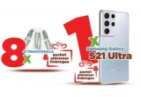 1 x smartphone Samsung Galaxy S21 Ultra Phantom Silver + pachet aniversar cu produse Dobrogea, 8 x ie traditionala + pachet aniversar cu produse Dobrogea