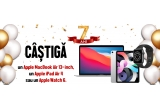 "1 x Laptop Apple MacBook Air 13-inch True Tone procesor Apple M1 256GB, 1 x Apple iPad Air 4 (2020) 10.9"" 64GB Wi-Fi Silver, 1 x Apple Watch 6 GPS Carcasa Space Gray Aluminium 44mm Black Sport Band"