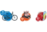 "1 x bicicleta Junior Giant XTC Jr 24"", 10 x pereche role pentru copii Cygnus Power Jr, 30 x set badminton Talbot Torro Fighter"