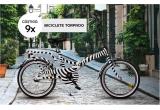 9 x bicicleta Torpado cu model zebra