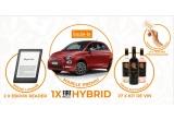 1 x masina Fiat 500 Hybrid Cult, 2 x eBook Reader Kindle 2019, 27 x Voucher IconicDrinks.Shop de 150 lei, 27 x Kit de vin compus din sticla Byzantium Rosso 0.75L + tirbuson inscriptionat cu Byzantium + sticla Byzantium Blanc 0.75L + sticla Byzantium Rose 0.75L