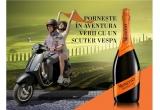 1 x motocicleta Vespa, 13 x sticla Mionetto Orange + Freixenet Prosecco/Freixenet Cava
