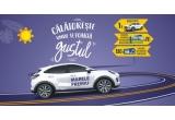 1 x mașina Ford Puma Titanium 1.0 Ecoboost Hybrid (mHEV) 125 CP M6 FWD, culoare Frozen White, 120 x voucher alimentare carburant de 300 lei, 20 x voucher calatorie de weekend in Romania de 2.500 lei