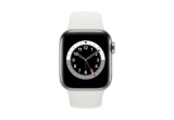 1 x Apple Watch Series 6 GPS + Cellular 44mm Silver Stainless Steel Case White Sport Band