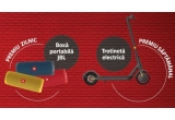 9 x trotineta electrica Xiaomi Mi Pro 2, 62 x boxa portabila JBL Flip 5