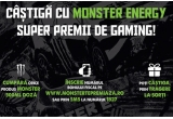 1 x laptop gaming Lenovo Legion 5, 2 x scaun gaming, 10 x cargo cooler Monster minifrigider 26L, 250 x bax canx 4 doze Monster Green