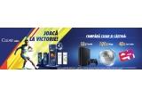 10 x Consola PlayStation®4 Slim 500 GB, 40 x Card cadou Emag de 200 lei, 100 x minge de fotbal personalizata cu logo Clear