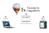 1 x vacanța all-inclusive in Cappadocia pentru 2 persoane + plimbare cu balonul cu aer cald, 1 x laptop Apple MacBook Air 13″, 3 x voucher Fashion Days de 1.000 lei, 3 x set de caligrafie compus din caiet de practica + manual de caligrafie + toc Moblique 2 in 1 + penița Zebra G + tuș negru 20ml