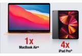 1 x laptop Apple MacBook Air 13″ Retina Display, 4 x tableta Apple iPad Pro 11″ (2020) 128GB Wi-Fi Space Grey