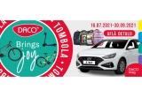 "1 x mașina Hyundai i30, 1 x bicicleta MTB Rockrider 24"", 1 x bicicleta MTB Rockrider 27.5"", 10 x trotineta electrica DHS 601EH Vision, 500 x ghiozdan, 238 x bicicleta (pentru mediul offline)"