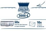 1 x 3000 euro, 50 x set de 3 borcane cu capac Ceramical, 10 x Voucher LIDL de 200 de lei