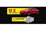 12 x masina Tesla Model 3, 10 x 10.000 RON