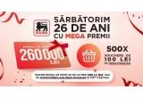 1 x 260.000 lei, 500 x voucher de cumparaturi Mega Image de 100 lei