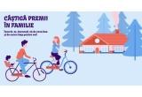 1 x Casuta din lemn sau contravaloarea in bani a premiului - 73800 lei, 8 x kit de familie - 2 Biciclete negre pentru adulti + scaun de Bicicleta pentru copii