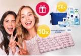10 x tastatura wireless Logitech MX Keyx Mini + kit Nivea, 50 x kit Nivea