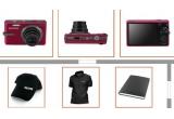 <p> o camera foto digitala Samsung IT100 de 12MP,3 tricouri, 3 sepci, o agenda<br /> </p>