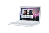 <p> un laptop MacBook alb, 101 x CD-uri cu muzica<br /> </p>