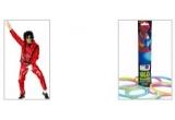 un costum Michael Jackson, bratari, coliere fosforescente<br />